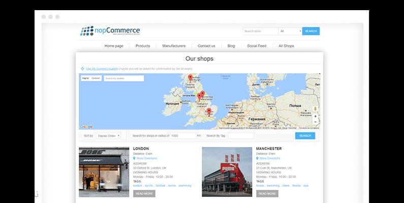 تصویر پلاگین Store Locator - موقعیت فروشگاه در نقشه