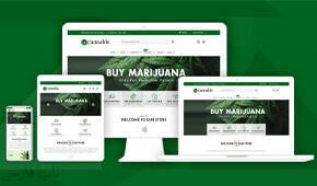 قالب فروشگاهی Cannabis ناپکامرس