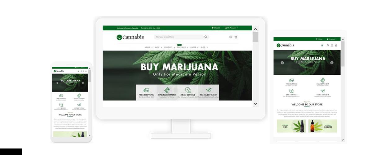 قالب فروشگاهی Cannabis ناپکامرس - پاسخگرا