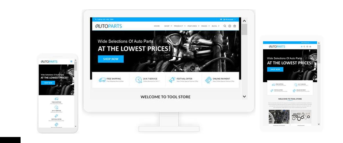 قالب فروشگاهی Auto Parts ناپکامرس - پاسخگرا