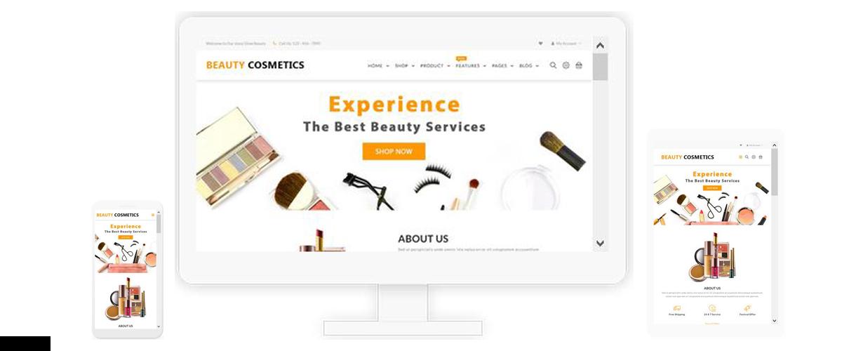قالب فروشگاهی Beauty Cosmetics ناپکامرس - پاسخگرا