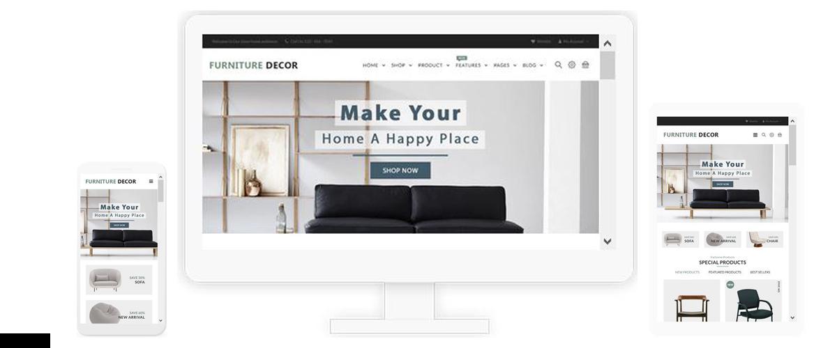 قالب فروشگاهی Furniture Deco ناپکامرس - پاسخگرا