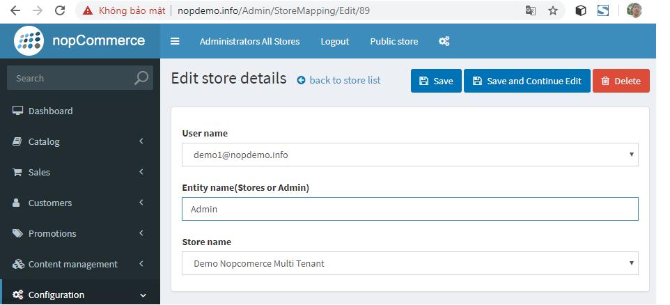 افزونه چند-استیجاری ناپکامرس - نسبت دادن فروشگاههای ایجاد شده به حساب کاربری فروشندگان